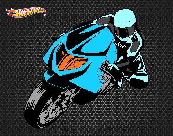 Dibujo De Carrera De Moto Pintado Por En Dibujosnet El Día 08 05 15