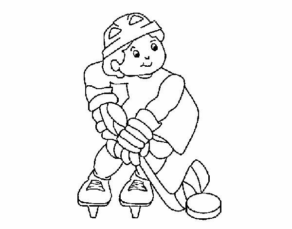 Dibujo de Niño jugando a hockey pintado por en Dibujos.net el día 09 ...