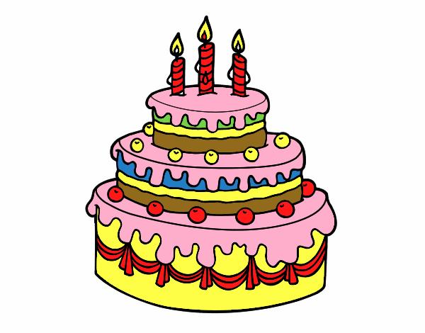 Dibujo De Tarta De Cumpleaños Pintado Por En Dibujos.net