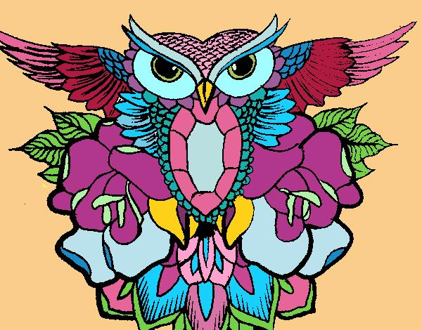 Dibujo De Símbolo Búho Pintado Por En Dibujosnet El Día 17