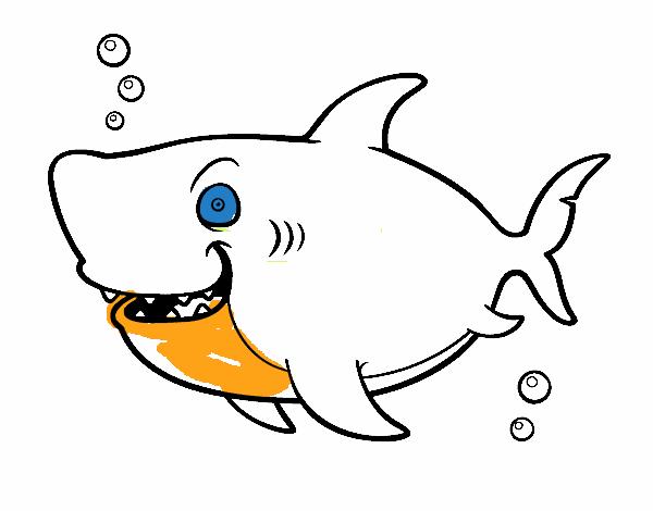 Dibujo de Tiburón ballena pintado por en Dibujos.net el día 21-05-15 ...