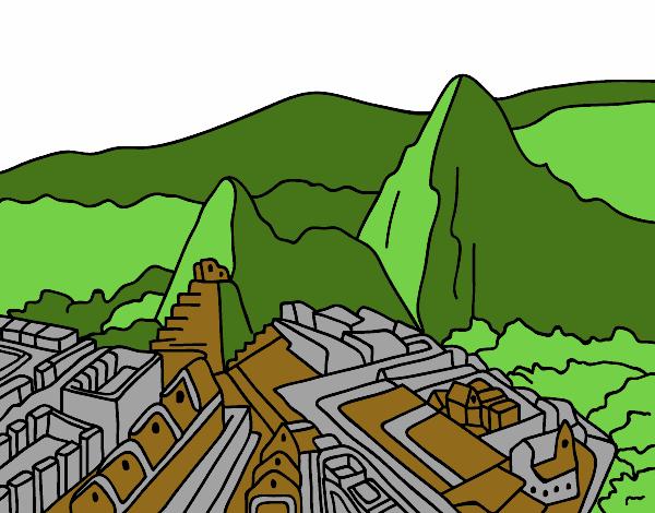 Dibujo De Machu Picchu Pintado Por En Dibujos Net El Dia 27 05 15 A