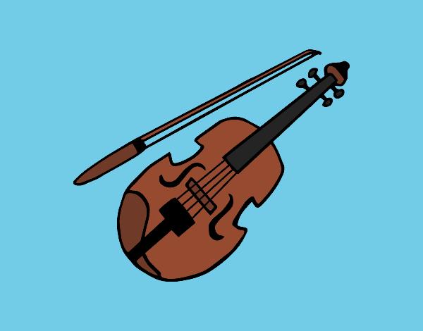 dibujos de violines para colorear - dibujos