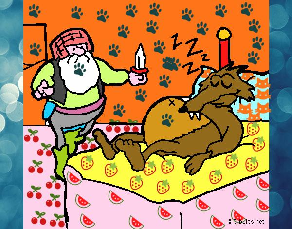 Dibujo De Lobo Y Cazador Pintado Por En Dibujosnet El Día 05 06 15