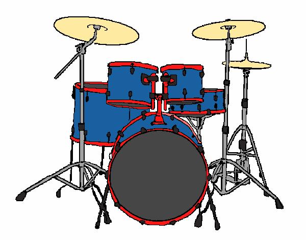 Dibujo De Batería De Percusión Pintado Por En Dibujosnet El