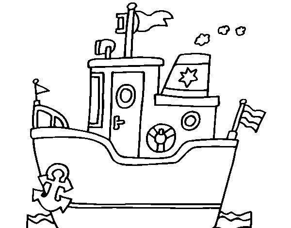 Dibujo De Barco Con Ancla Pintado Por En Dibujosnet El Día 28 06 15