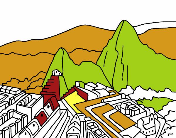 Dibujo De Machu Picchu Pintado Por En Dibujos Net El Dia 07 07 15 A