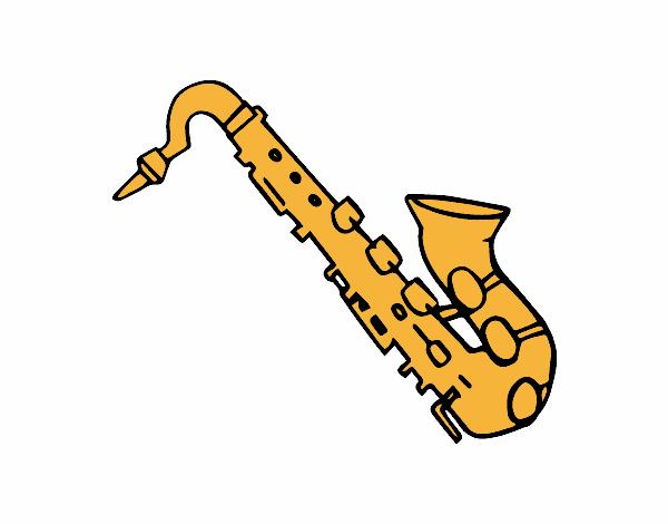 Dibujo De Saxofón Tenor Pintado Por En Dibujosnet El Día 13