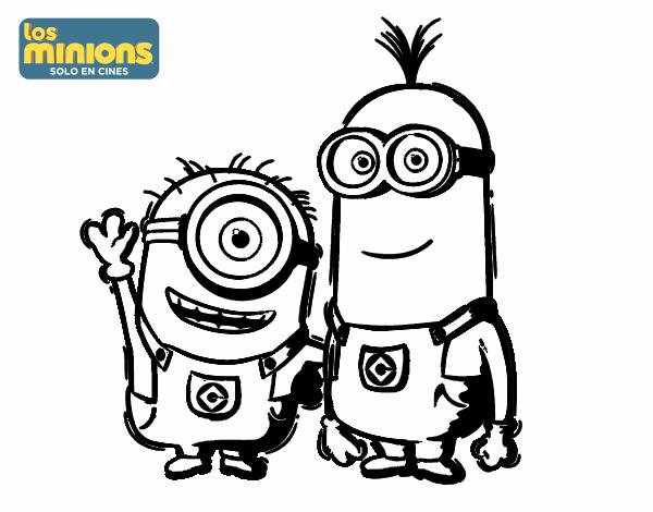 Dibujo De Minions Carl Y Kevin Pintado Por En Dibujosnet