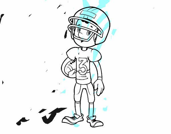 Dibujo De Niño Jugador De Rugby Pintado Por En Dibujosnet