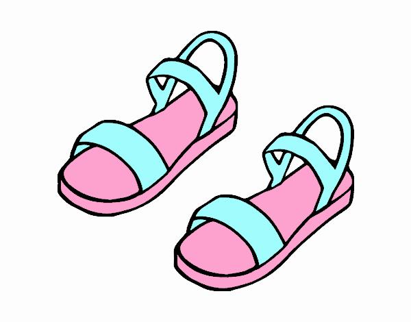 De Las El Pintado 15 A 07 31 En Día Dibujo Sandalias Por JcFK1l