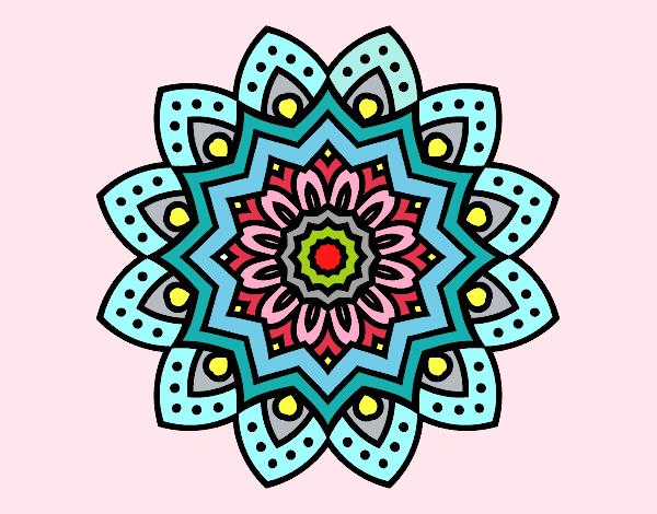 Dibujo de Mandala flor natural pintado por Asas en Dibujosnet el