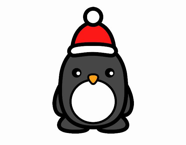 Dibujo de Pingüino navideño pintado por en Dibujos.net el día 08-08 ...