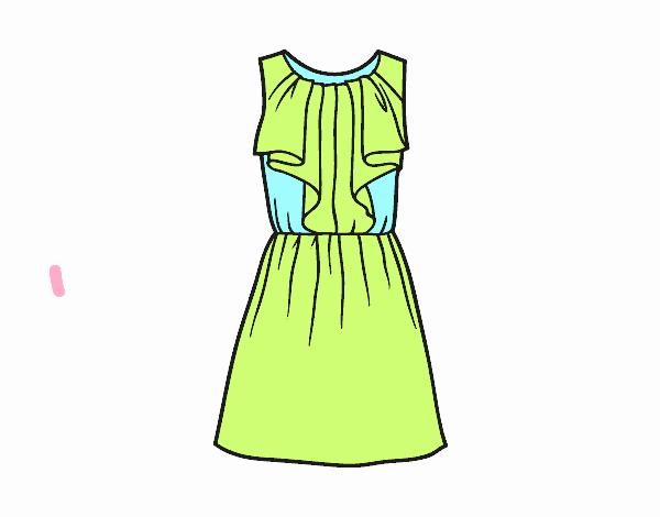 Dibujo De Vestido Colores Pasteles Part 1 Pintado Por En