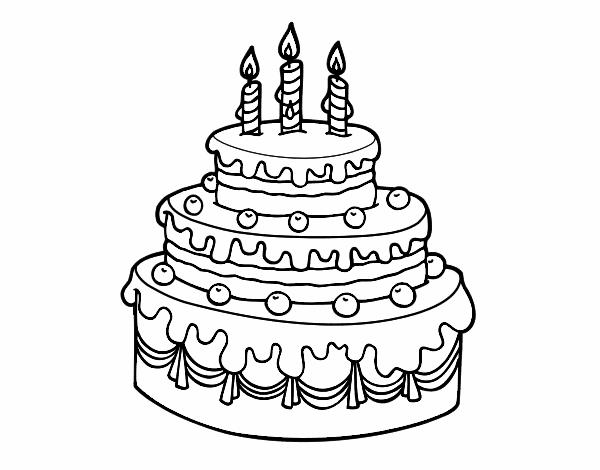 Dibujo de Tarta de cumpleaños pintado por en Dibujos.net el día 26 ...