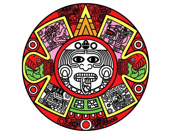 Dibujo De Calendario Azteca Pintado Por En Dibujosnet El Día 18 09
