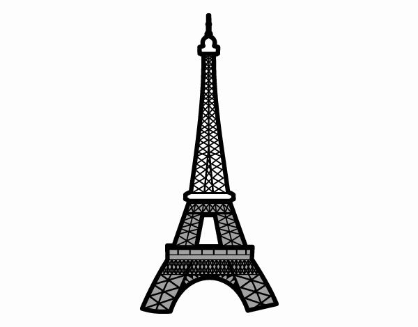 Dibujo De Torre Eiffel Pintado Por En Dibujosnet El Día 02