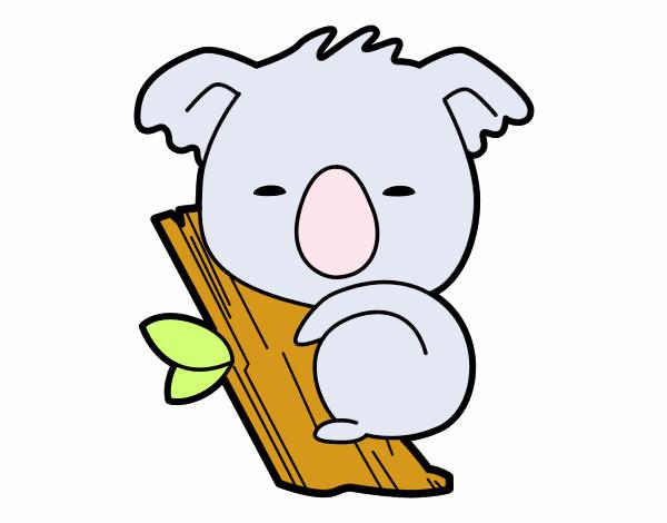 Dibujo de Koala bebé pintado por en Dibujos.net el día 10-10-15 a ...