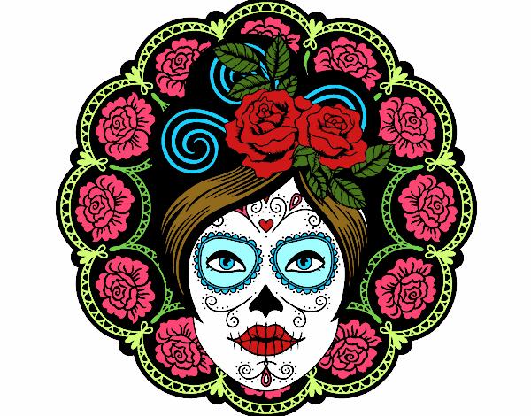Dibujo De La Catrína De Las Rosas Pintado Por En Dibujosnet El Día