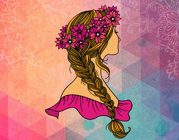 Elegante dibujos de peinados Fotos de cortes de pelo tutoriales - Dibujo de Peinado con trenza pintado por Urena en Dibujos ...
