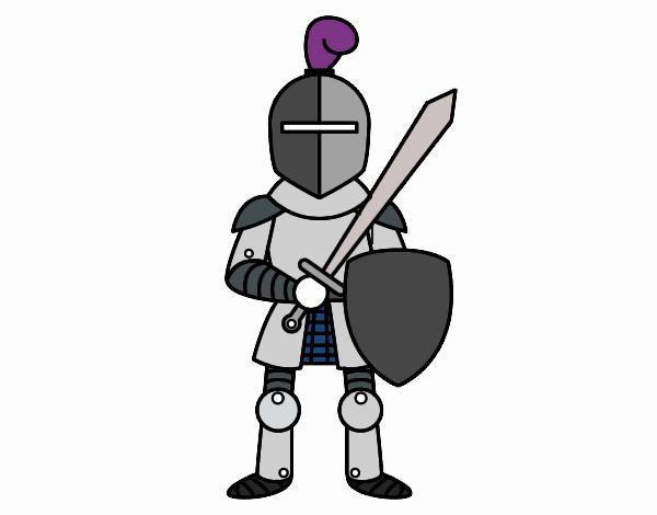 Dibujo de Caballero con espada y escudo pintado por en Dibujos.net ...