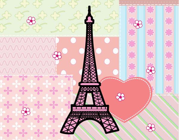 Torre Ifel En Dibujo: Dibujo De Torre Eiffel Pintado Por En Dibujos.net El Día