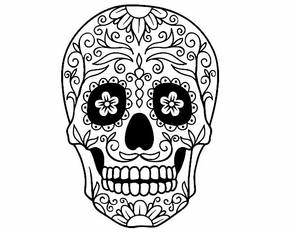 Dibujo De Calavera Mejicana Pintado Por En Dibujosnet El Día 27 10