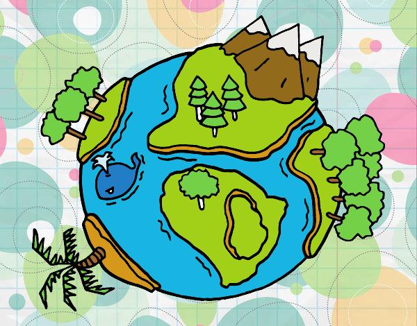 Dibujo de Planeta natural pintado por Zebazpvd en Dibujos ...