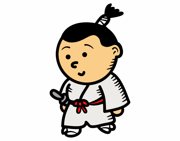Dibujo de Samurái niño pintado por en Dibujos.net el día 11-11-15 a ...