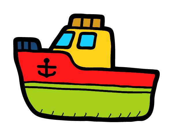 dibujo de barquito bonito de juguete pintado por en dibujos net el