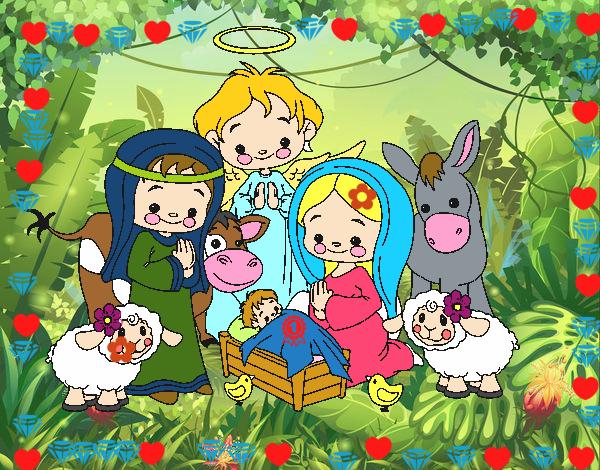 Dibujos De Navidad Del Nacimiento De Jesus.Dibujo De El Nacimiento De Jesus Pintado Por En Dibujos Net