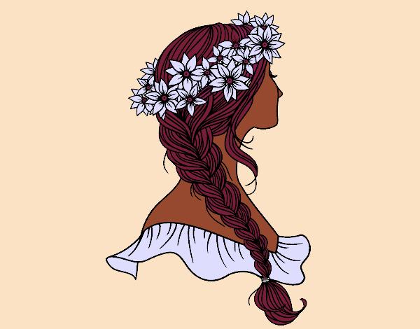 Súper fácil peinados dibujo Fotos de los cortes de pelo de las tendencias - Dibujo de Peinado con trenza pintado por Adriana_12 en ...