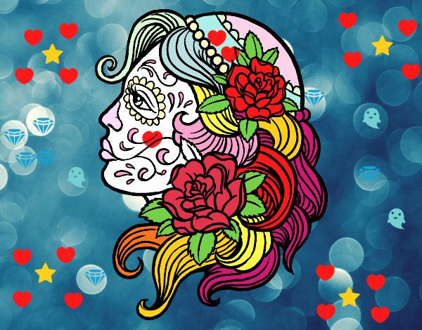 Dibujo De Tatuaje De Catrina Pintado Por En Dibujosnet El Día 28 11