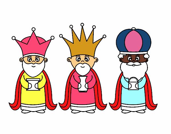 Dibujos Para Colorear De Los Tres Reyes Magos: Dibujo De Los 3 Reyes Magos Pintado Por Bautopa En Dibujos