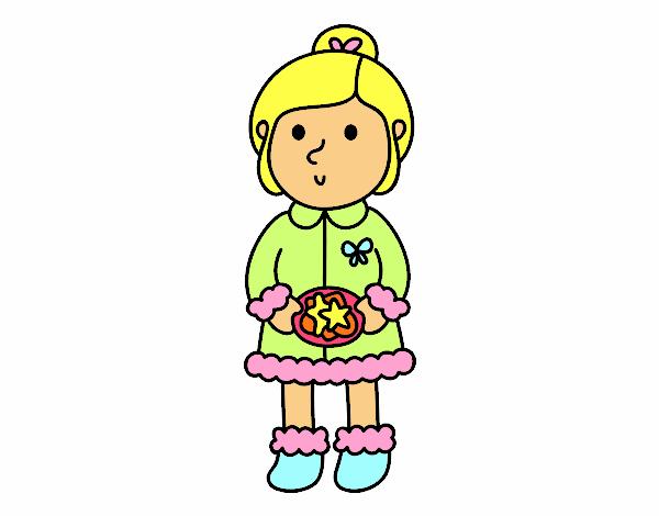 Dibujo de Niña con galletas pintado por en Dibujos.net el día 05-12 ...
