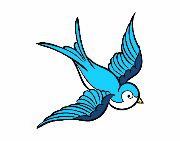 Dibujo De Tatuaje De Pájaro Pintado Por En Dibujosnet El Día 01 12