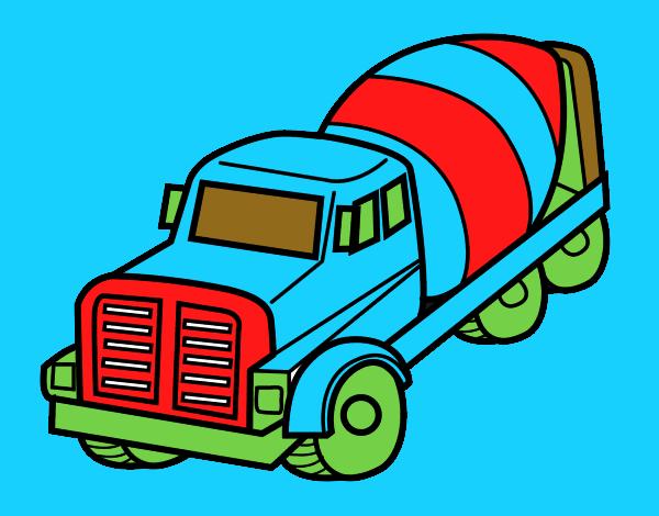 Dibujo De Camión Hormigonera Pintado Por En Dibujosnet El Día 12 12