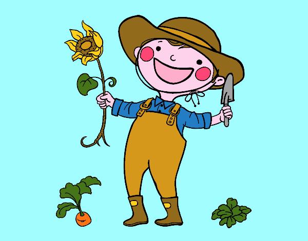 Dibujo De Un Jardinero Pintado Por En Dibujosnet El Día 12 12 15 A