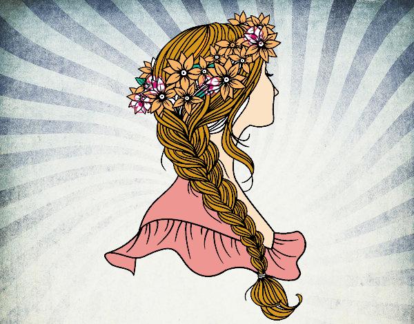 Ideas bonitas para peinados dibujos Fotos de cortes de pelo tutoriales - Dibujo de Peinado con trenza pintado por Psa123 en Dibujos ...