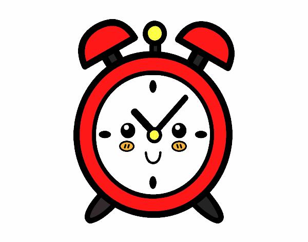 Dibujo de Reloj despertador pintado por en Dibujos.net el día 08-12 ...