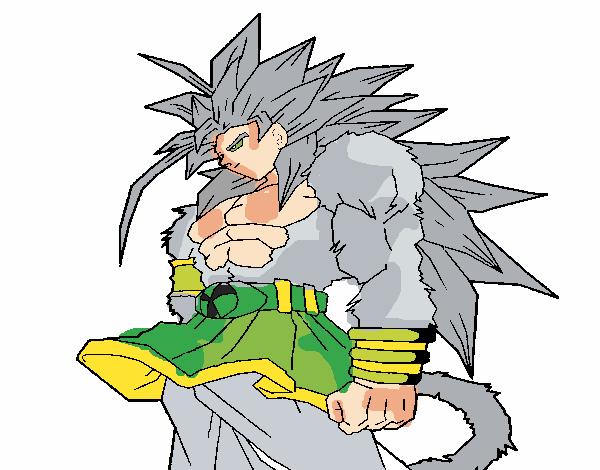 Todas Las Fases De Goku Para Colorear: Dibujo De Goku Fase 5 Pintado Por En Dibujos.net El Día 13