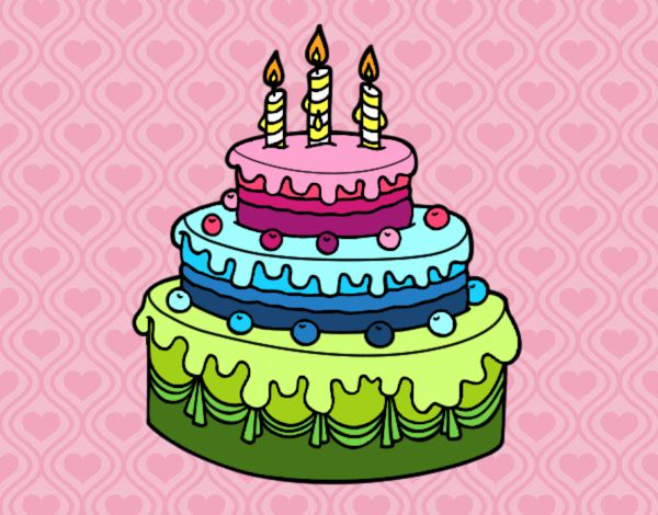 Dibuja Y Colorea Torta De Cumpleaños: Dibujo De Torta De Colores Pintado Por En Dibujos.net El