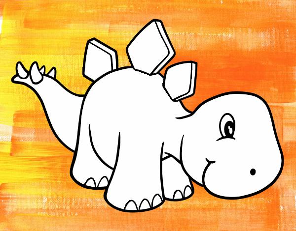 Dibujo de Estegosaurio bebé pintado por en Dibujos.net el día 17-12 ...