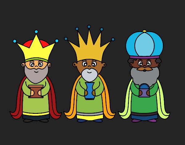 Dibujo De Los 3 Reyes Magos Pintado Por En Dibujos Net El Dia 18 12