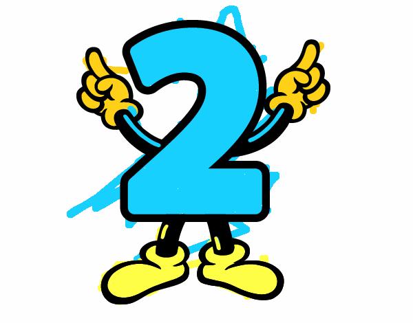 Dibuix de Nombre 2 pintat per a Dibujos.net el dia 30-12-15 a ...