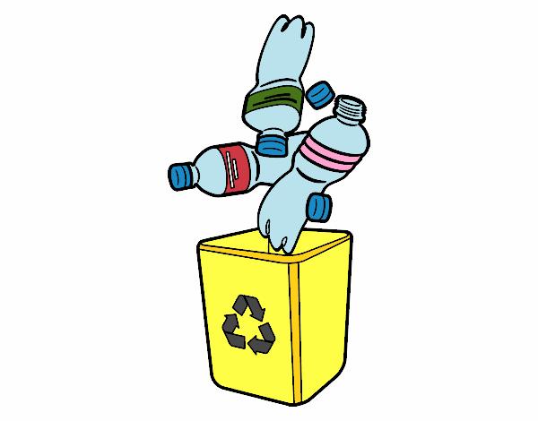 Dibujo De Reciclaje De Botellas Pintado Por En Dibujos.net