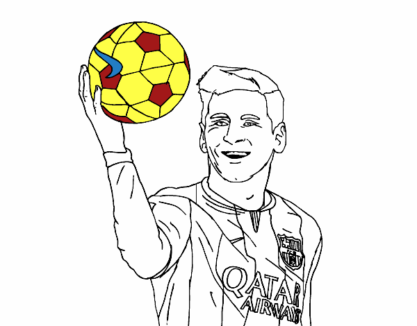 Dibujo De Lionel Messi Pintado Por En Dibujos Net El Día 12 01 16 A Las 03 15 50 Imprime Pinta O Colorea Tus Propios Dibujos