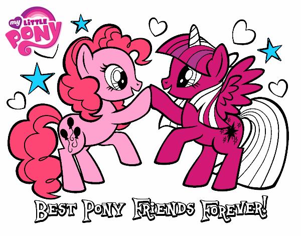 Dibujo De Mejores Pony Amigas Para Siempre Pintado Por En