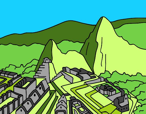 Dibujo De Machu Picchu Pintado Por En Dibujos Net El Dia 23 01 16 A