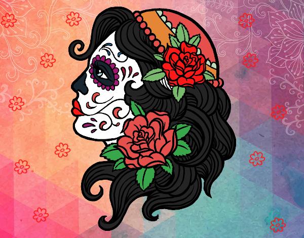 Dibujo De Tatuaje De Catrina Pintado Por En Dibujosnet El Día 20 01